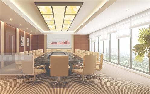 会议室布置背景墙图片